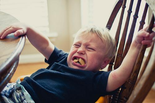 child's tantrum