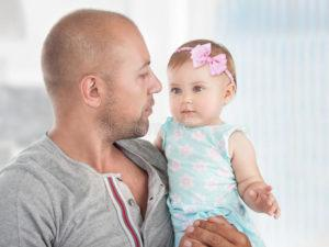 Bonding of father with Baby